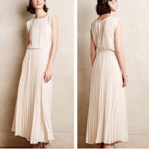 Anthropologie Icepleat Maxi Dress Size Small